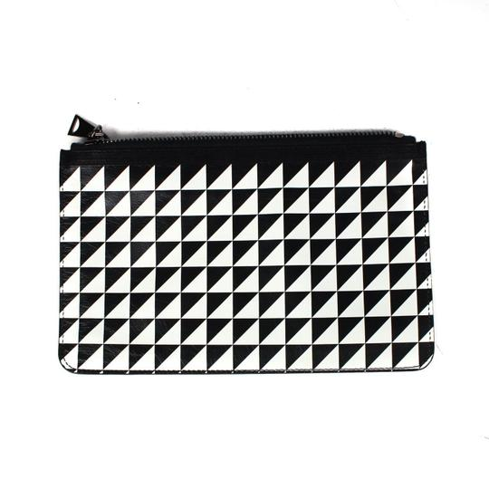 Proenza Schouler Black/White triangle pattern Clutch Image 10