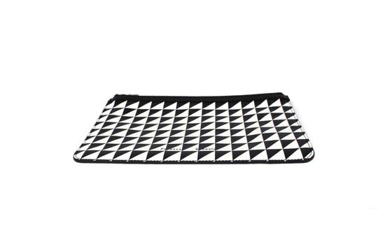 Proenza Schouler Black/White triangle pattern Clutch Image 2