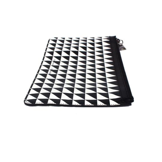Proenza Schouler Black/White triangle pattern Clutch Image 9