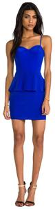 Naven Peplum Silk Mini Revolve Dress