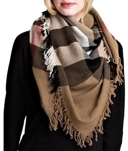 Burberry Burberry Color Block Wool Square Scarf