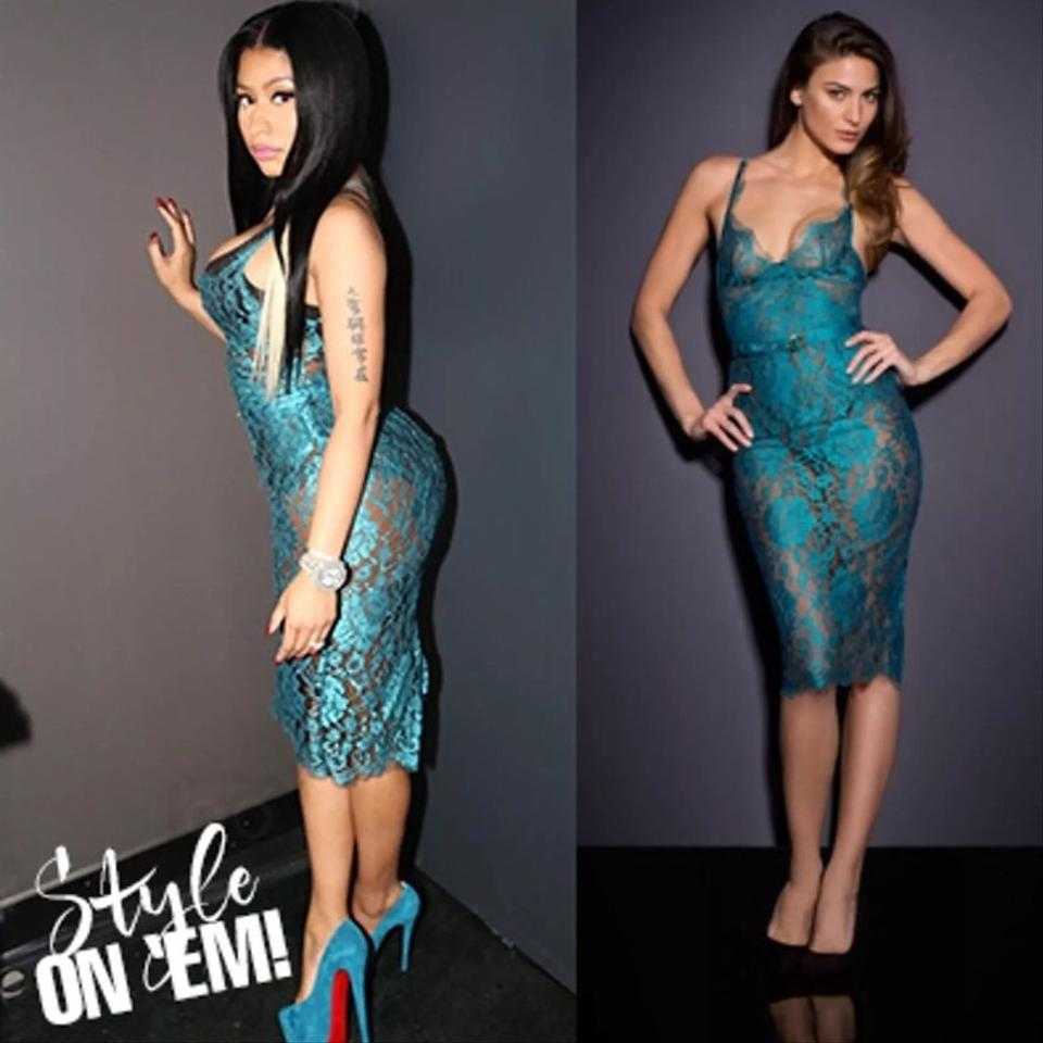 cee482552b9 Agent Provocateur Blue Rosetta Mid-length Cocktail Dress Size 4 (S) -  Tradesy