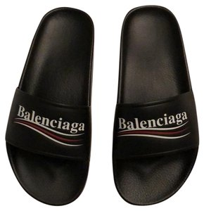 Balenciaga Leather Logo Casual Water-resistant Sandals