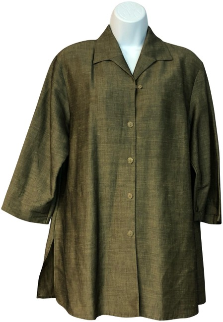 Preload https://img-static.tradesy.com/item/24492532/bianca-brown-made-in-germany-blouse-button-down-top-size-12-l-0-1-650-650.jpg