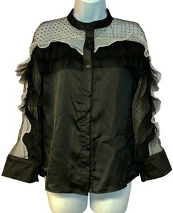 Beulah Blouse Button Down Shirt Black