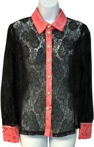 The Moon Blouse Medium Button Down Shirt Black