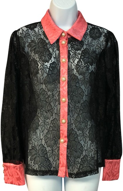 Preload https://img-static.tradesy.com/item/24492553/black-salmon-trim-lace-blouse-m-button-down-top-size-8-m-0-1-650-650.jpg