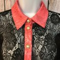The Moon Blouse Medium Button Down Shirt Black Image 1