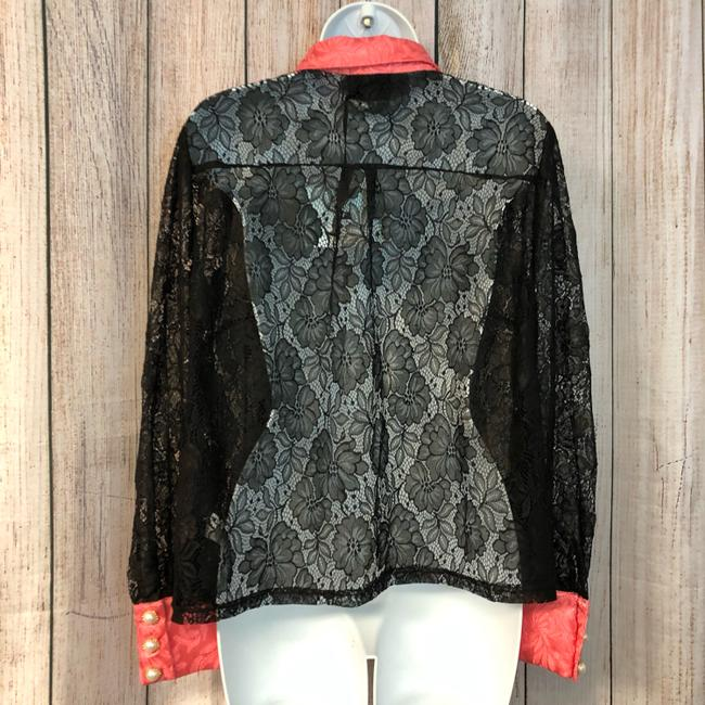 The Moon Blouse Medium Button Down Shirt Black Image 5