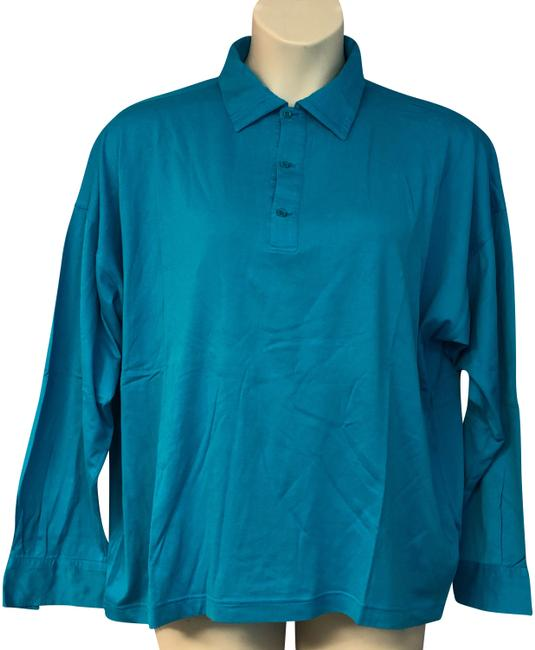 Preload https://img-static.tradesy.com/item/24492557/versace-teal-v2-by-made-in-italy-cotton-men-s-xl-blouse-size-16-xl-plus-0x-0-1-650-650.jpg