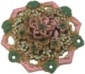 Vintage Vintage painted flower celluloid brooch pin Image 0