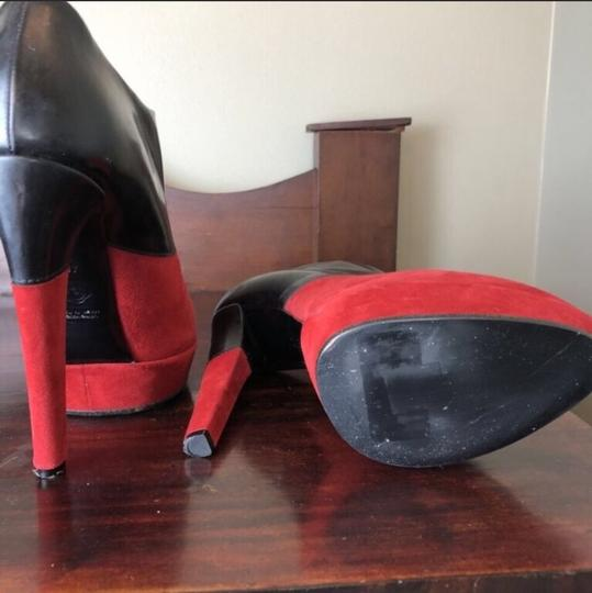 VIKTOR & ROLF Black and Red Mules Image 4