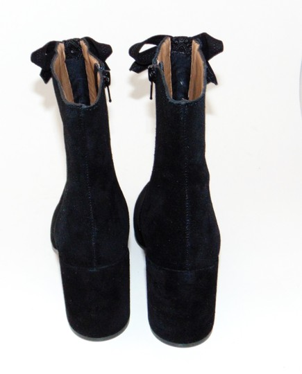 Bettye Muller Black Suede Embroidered Boots Image 2