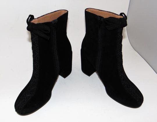 Bettye Muller Black Suede Embroidered Boots Image 4
