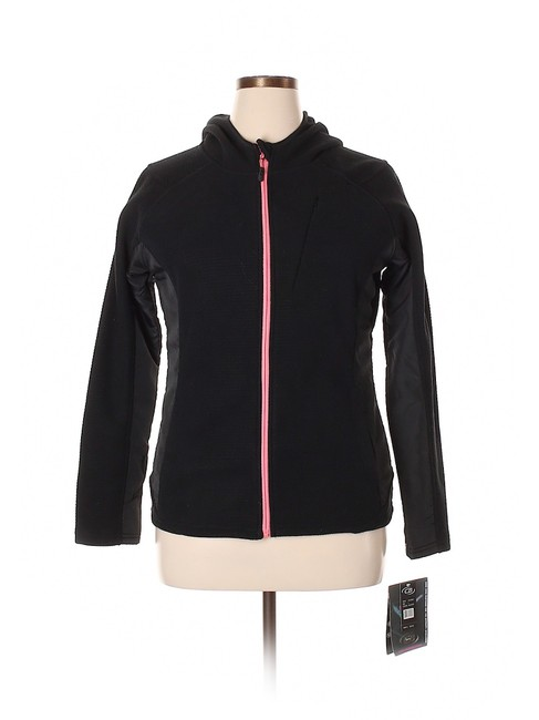 Preload https://img-static.tradesy.com/item/24492662/cb-casual-black-sport-hooded-athletic-fleece-soft-shell-activewear-outerwear-size-12-l-32-33-0-2-650-650.jpg
