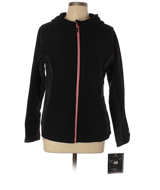 Item - Black Sport Hooded Athletic Fleece Soft Shell Activewear Outerwear Size 12 (L, 32, 33)