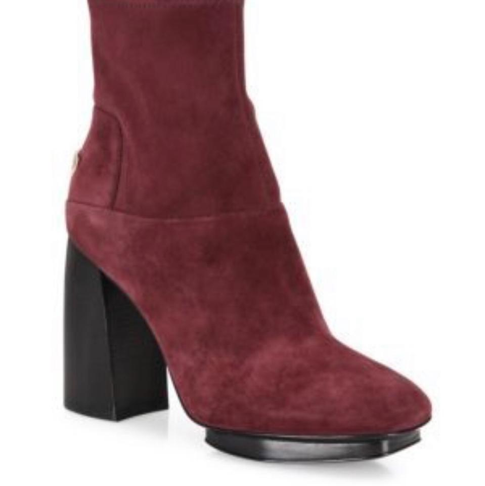 "680d5d2fb789 Tory Burch Port Burgundy Sidney 105mm Suede Bootie Strech Color ""port""  Style   32700 Boots Booties"