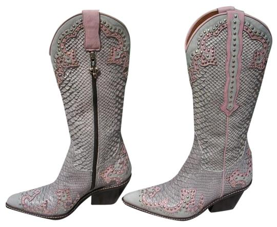 Preload https://img-static.tradesy.com/item/24492698/donald-j-pliner-gray-western-couture-new-stud-detail-snake-reptile-bootsbooties-size-us-65-regular-m-0-3-540-540.jpg