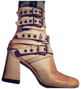 FREEBIRD by Steven Tali Tali Ankle Leather Size 9 Buckle Taupe Boots