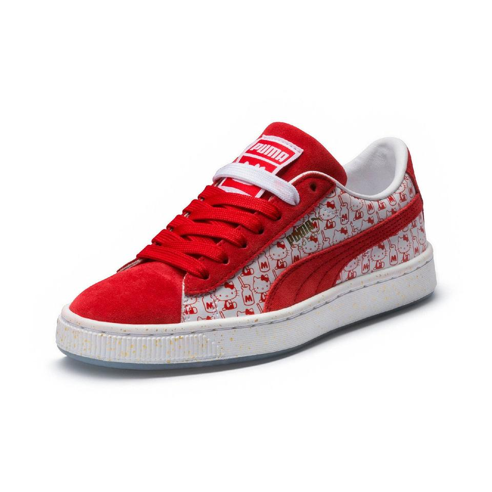 huge discount 7d2ee 8192a Puma X Hello Kitty Sneaker*red Suede* Sneakers Size US 7 Regular (M, B)