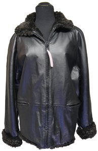 Angelina Leather Faux Fur Coat