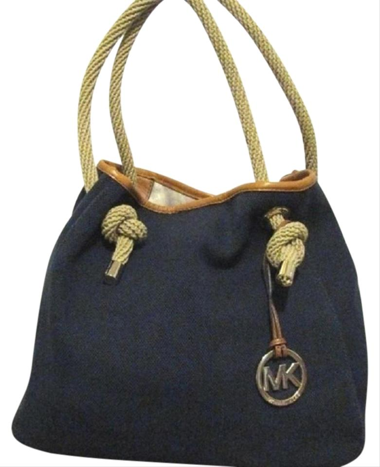 78e6d211ba31 MICHAEL Michael Kors Canvas Rope Handle Satchel in navy blue Image 0 ...