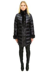 Belle Fare Quilted Fur Coat