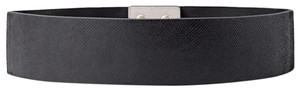 White House | Black Market WHBM leather micro embossed stretch belt size M