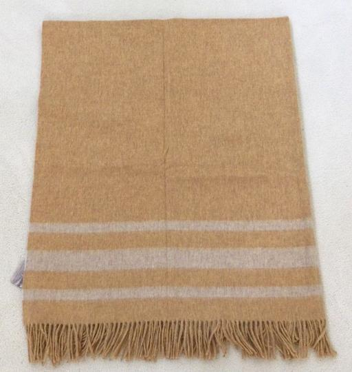 Abraham Moon & Sons Bronte Moon Netherfield Mill Throw Serville Mustard Made in England Image 1