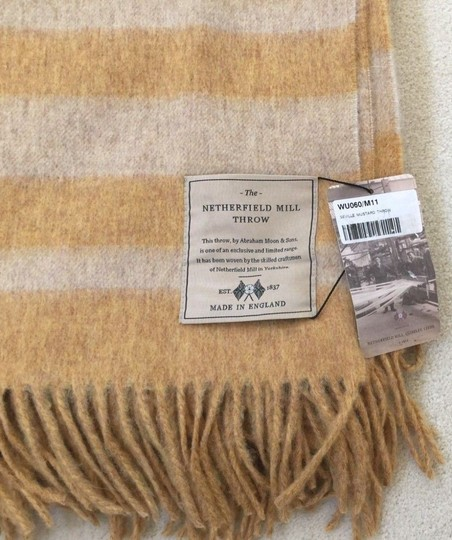 Abraham Moon & Sons Bronte Moon Netherfield Mill Throw Serville Mustard Made in England Image 2