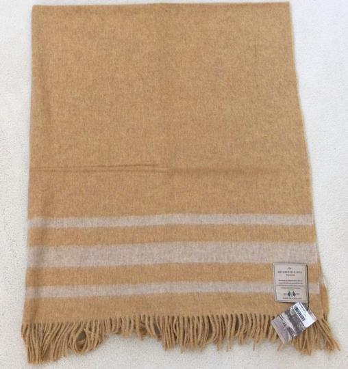 Abraham Moon & Sons Bronte Moon Netherfield Mill Throw Serville Mustard Made in England Image 3