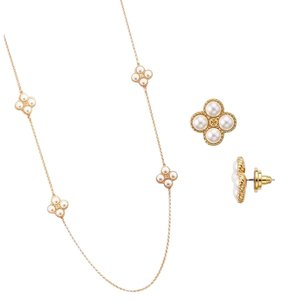 Tory Burch Kate Spade Clover Rope Pearl 2-Piece Set
