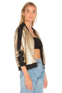 BlankNYC Sequin Bomber gold Jacket