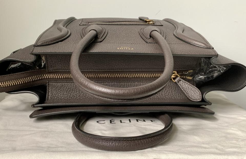 Céline Micro Luggage Tote In Brown Dark Taupe Image 11 123456789101112