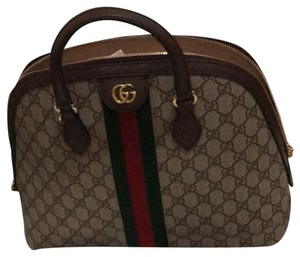 5d4fe21c8a3 Gucci Ophidia Gg Supreme Come with Dust No Box Brown Canvas Shoulder ...