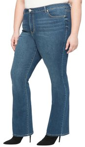 Eloquii Slim Stretch Boot Cut Jeans-Medium Wash