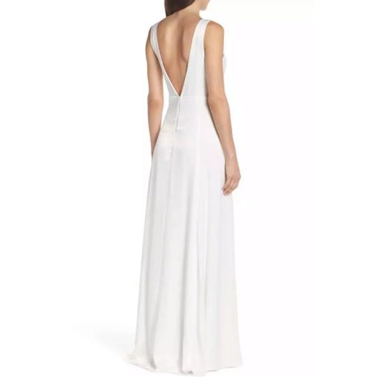 Show Me Your Mumu Ivory Sheen Polyester Jen Maxi Gown Feminine Bridesmaid/Mob Dress Size 4 (S) Image 1
