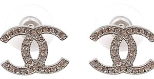 Chanel Chanel Moscova CC Classic Crystal Earrings