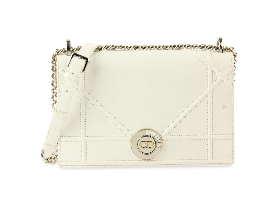 e8e75b7cdd6b Dior Small Diorama White Leather Shoulder Bag - Tradesy