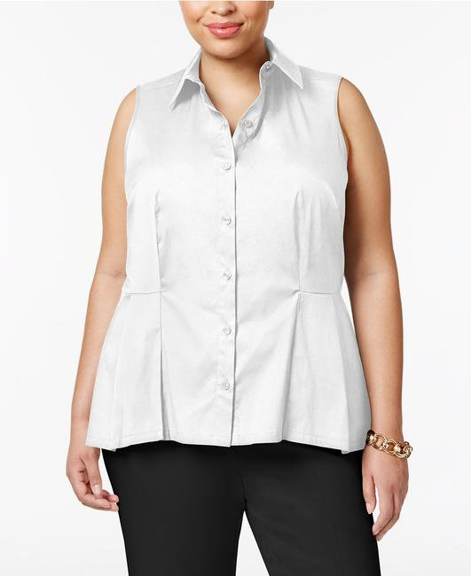 Charter Club Button Down Shirt White Image 2