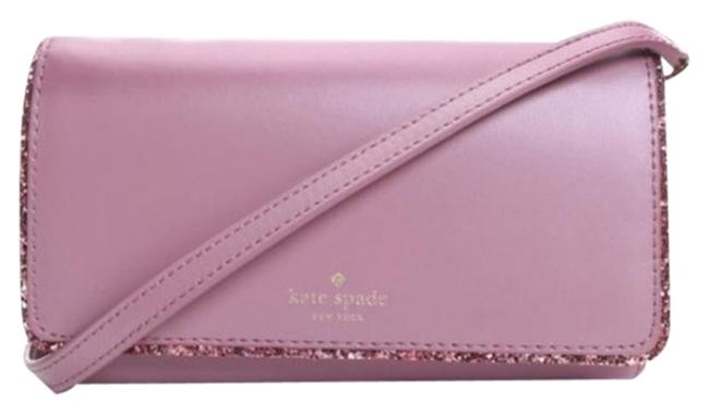 Item - Connie Seton Drive Glitter Wallet Pink Leather Cross Body Bag