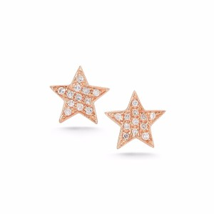 Dana Rebecca Designs DIAMOND STUD STAR EARRINGS IN ROSE GOLD
