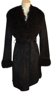 Arden B. Leather Suede Pigsuede Shearling 010 Fur Coat