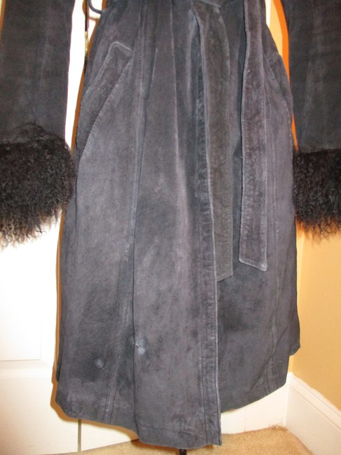 Arden B. Leather Suede Pigsuede Shearling 010 Fur Coat Image 10