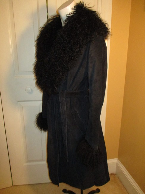 Arden B. Leather Suede Pigsuede Shearling 010 Fur Coat Image 2
