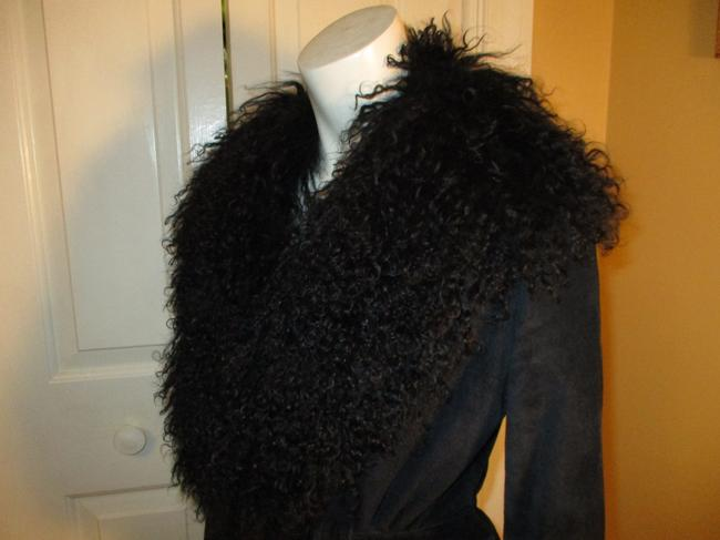 Arden B. Leather Suede Pigsuede Shearling 010 Fur Coat Image 3