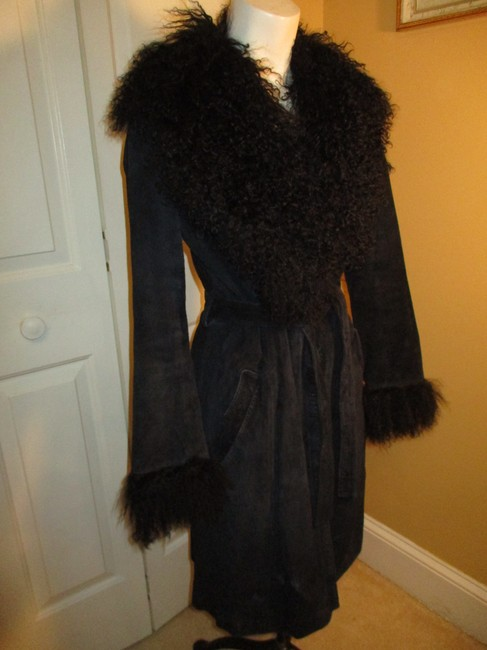Arden B. Leather Suede Pigsuede Shearling 010 Fur Coat Image 5