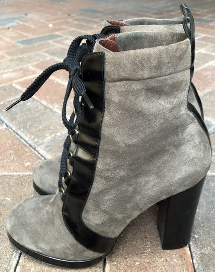 Marc by Marc Jacobs Suede Black Leather Platform Grey Boots Image 1
