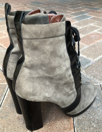 Marc by Marc Jacobs Suede Black Leather Platform Grey Boots Image 4