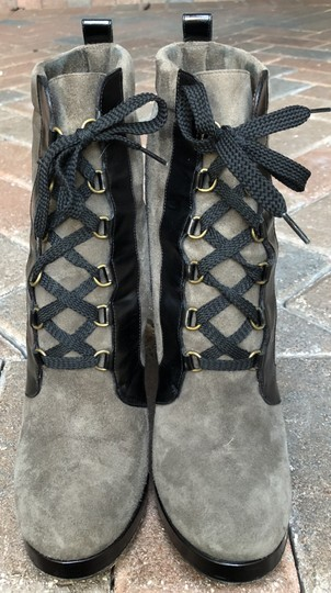 Marc by Marc Jacobs Suede Black Leather Platform Grey Boots Image 8